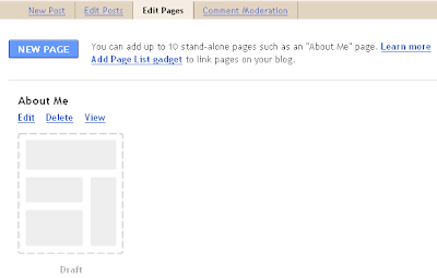 New Page as Static Page