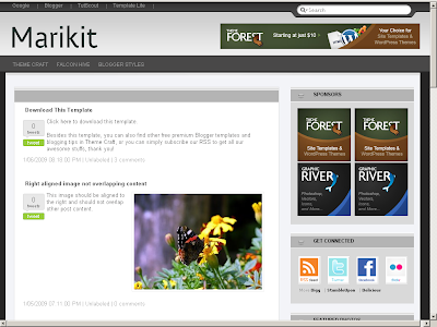 Marikit Blogger theme
