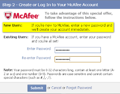 Create McAfee Account