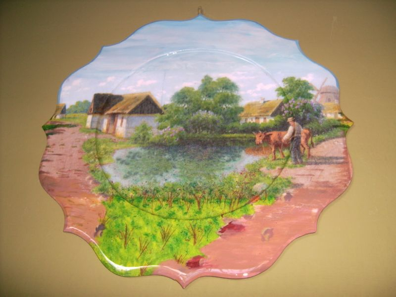 Artes y decoracion platos decorativos paisajes for Decoracion y paisaje s a