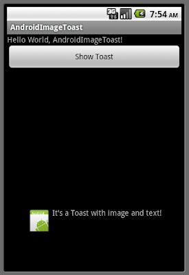 在Toast之上顯示圖像