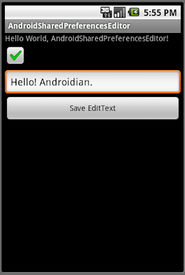 Android的共享選項編輯器(SharedPreferences.Editor)