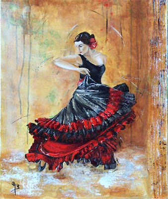 galerie peintures flamenco andalousie flamenco. Black Bedroom Furniture Sets. Home Design Ideas