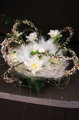 feather flower arrangement