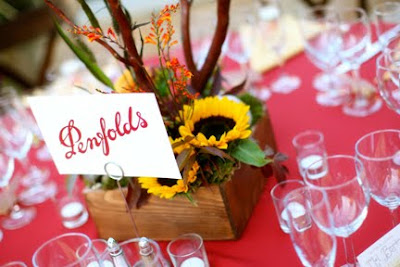 fall color wedding flower