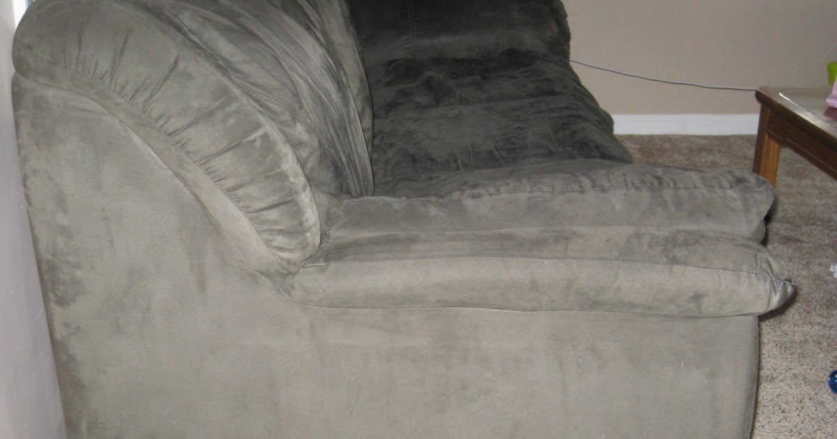 Moving Take It All Away Microfiber Couch Sold