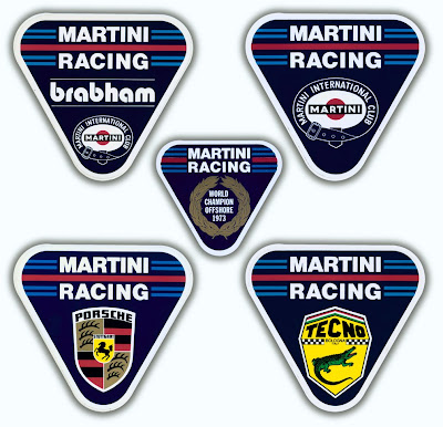 Auto Racing on Various Martini Racing Stickers 1970 S