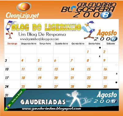 Calendario da blogosfera