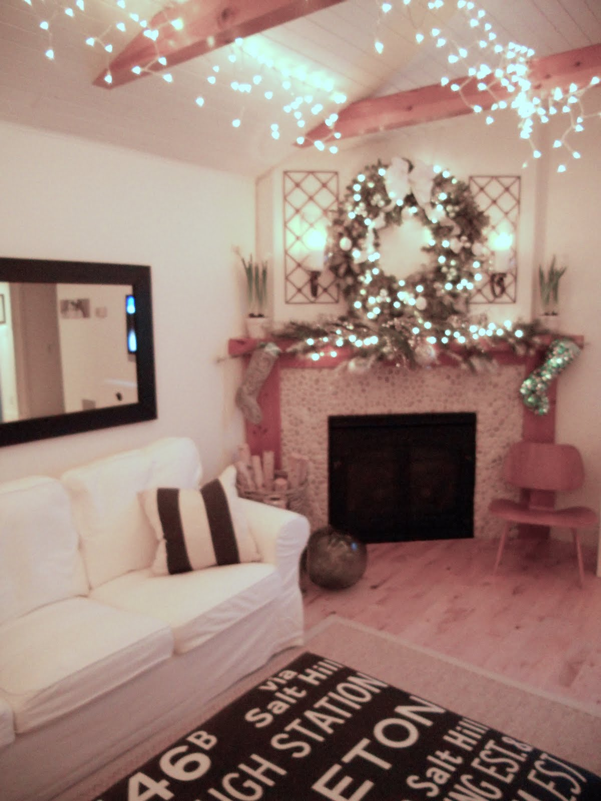 Portland oregon interior design blog my home at christmas - Light decorations for living room ...