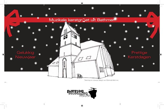 CD hoesje/ kerstkaart Kerk Carillon Bathmen
