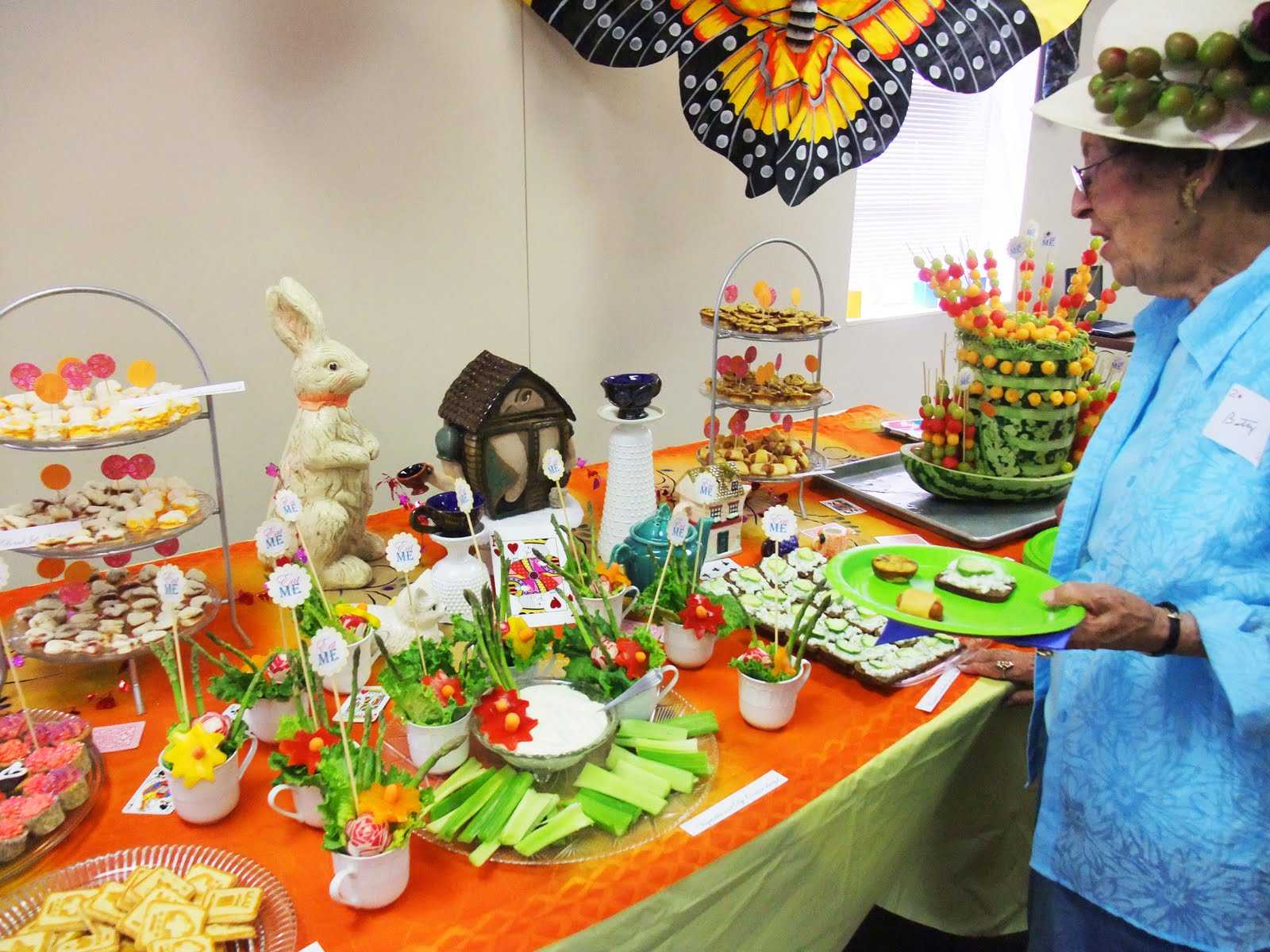 Liddy B. and me: Food and Decorations at Lydia's Tea Party