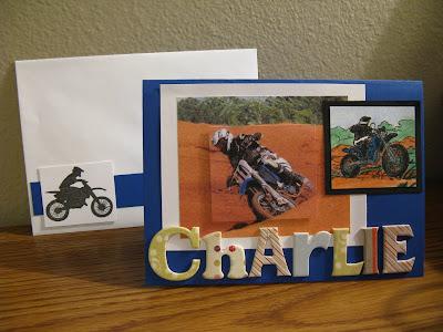 Jenns World Dirtbike Birthday Card