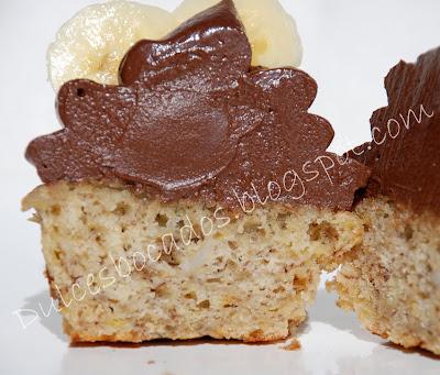 Cupcake de platano y chocolate