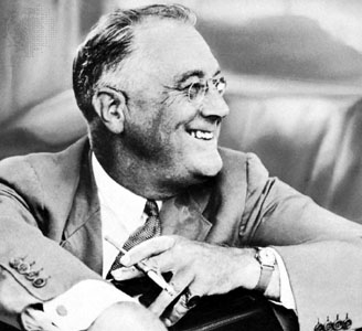Our Presidents • Franklin D. Roosevelt and his son, James, before...