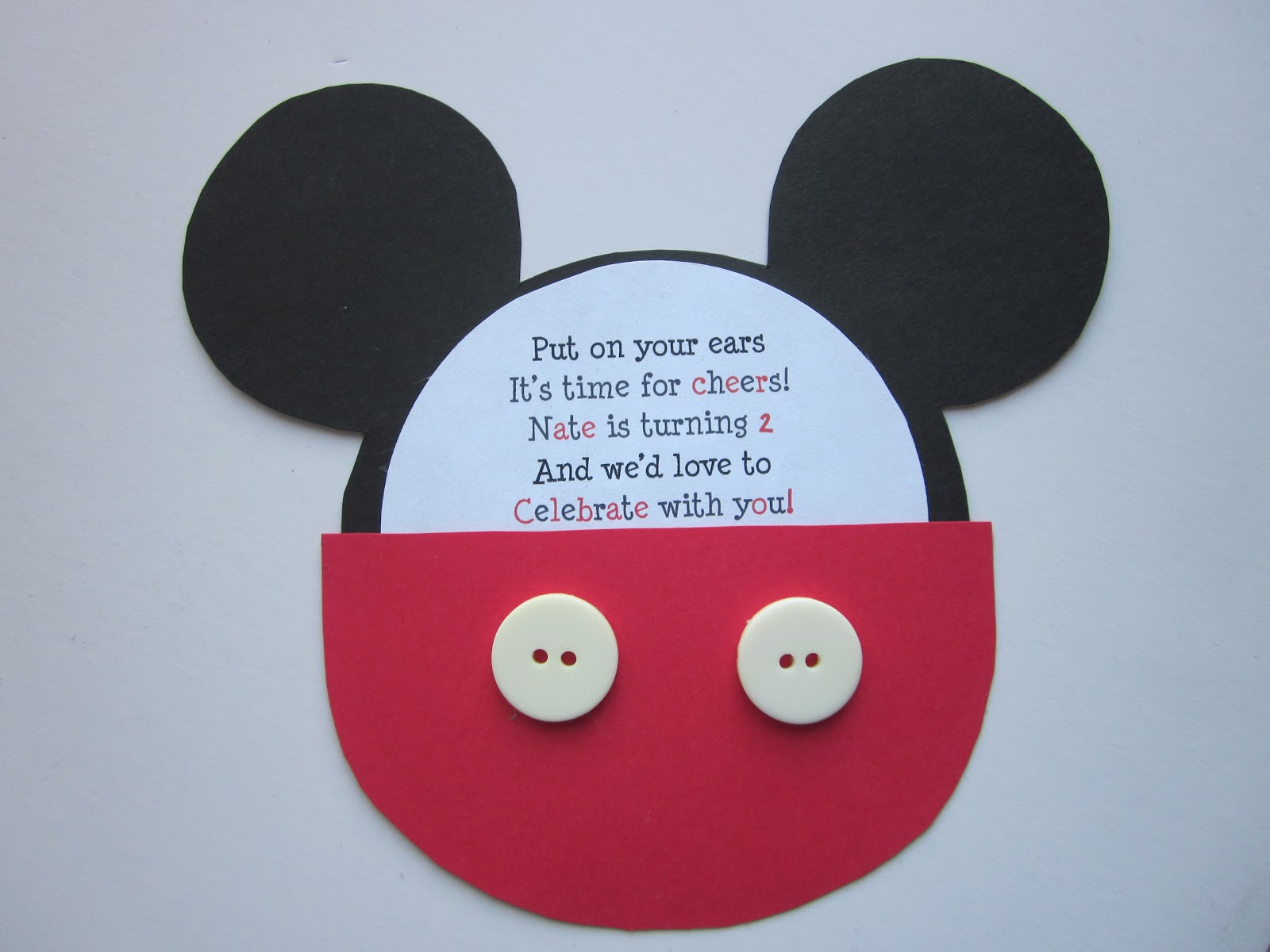 Mickey Invitation