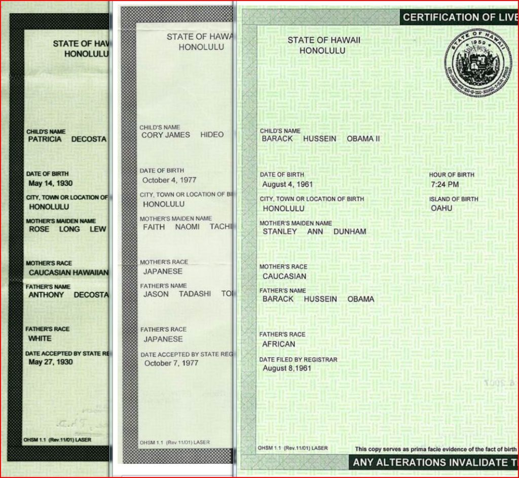 Where is Obama's Original Long Form Birth Certificate?
