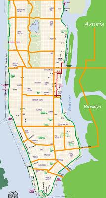Bike Lane Nyc Map.Astoria Bike My Bike Nyc Master Plan