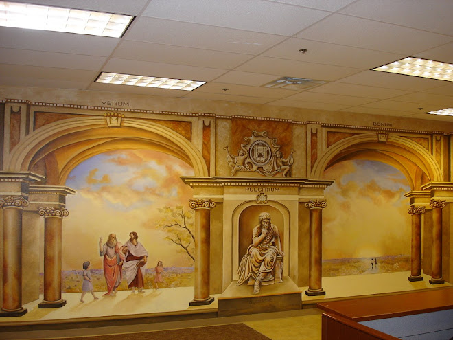 Archway classical Academy Old World Mural with Columns,Socrates, Plato, Aristotle