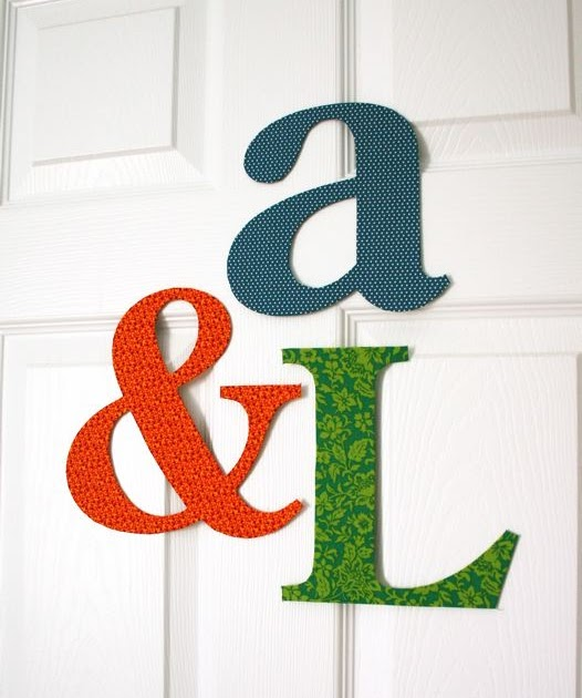 Mmmcrafts fabric covered letters for Fabric covered letters