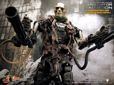 T 400 Terminator toyhaven: Hot Toys T-600 Weathered Rubber Skin version Preview