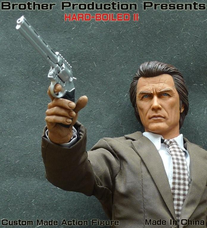 Custom Made 1//6 Scale Police Revolver Pistol dirty harry 44i