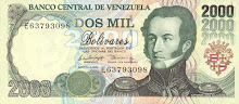 Billete de 2.000 Bs