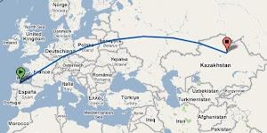 De Gijón a Astana: 5.614 Km