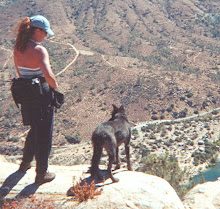 Rachel and Boo Hiking Kern River