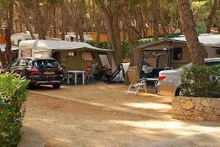 Camping en vacacones de verano