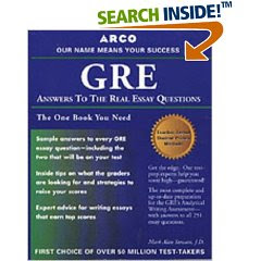 gre answer to the real essay questions Gmat: answers to the real essay questions [mark a stewart] on amazoncom free shipping on qualifying offers every gmat-taker s dream come true now.