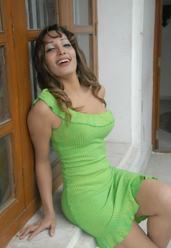 Tollywood Actress Ruby Photos in Green Dress