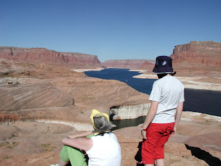 ourists on Lake Powell