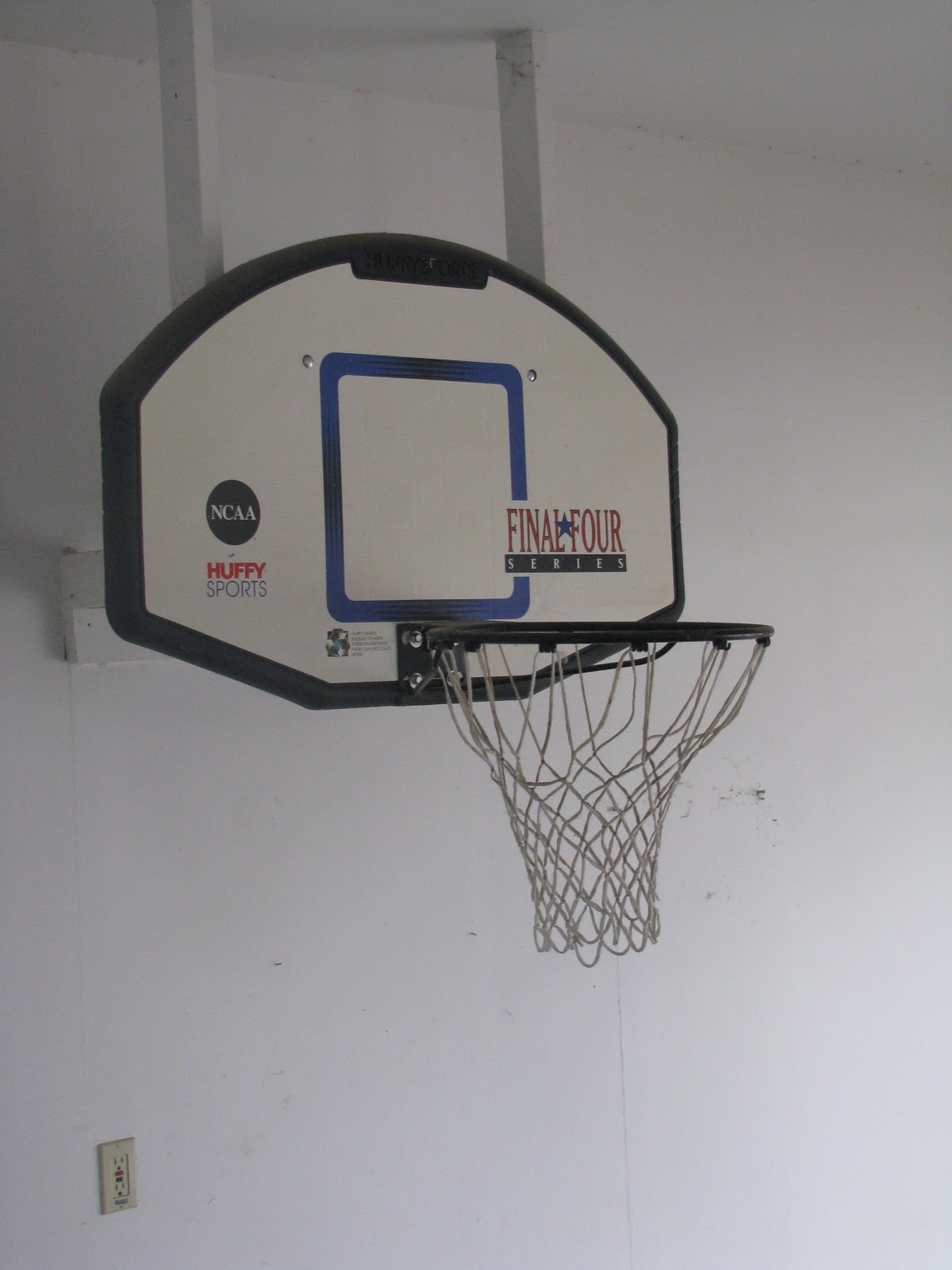 Gaerte gang some activities the kids have been enjoying for Basketball hoop inside garage