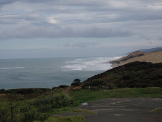 The Tasman Sea here is pretty rough. This view is north along the