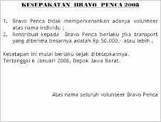 KESEPAKATAN  BRAVO 2008