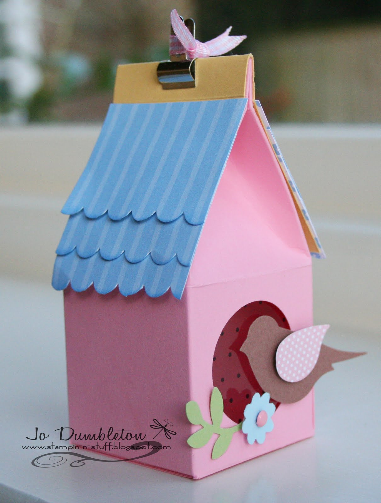 Stampin N Stuff Birdhouse Tutorial And Template
