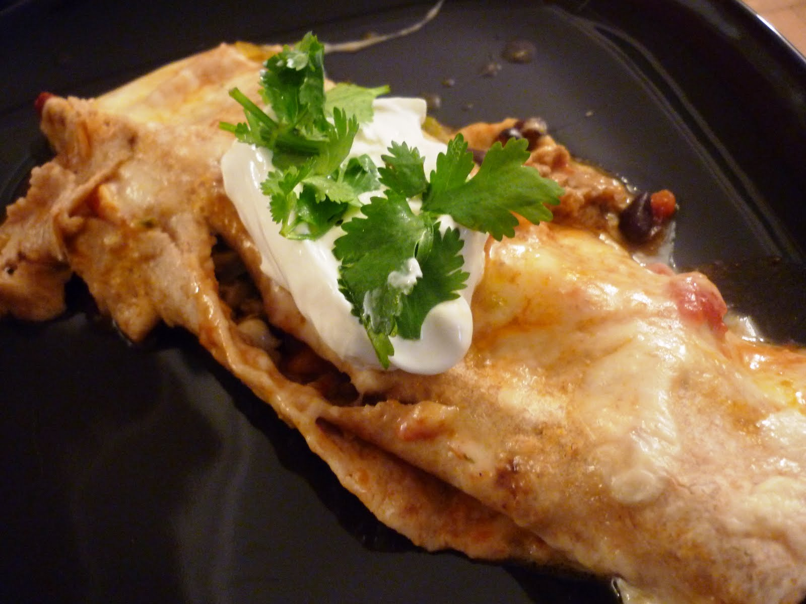 Good Looking Home Cooking: Turkey and Black Bean Enchiladas