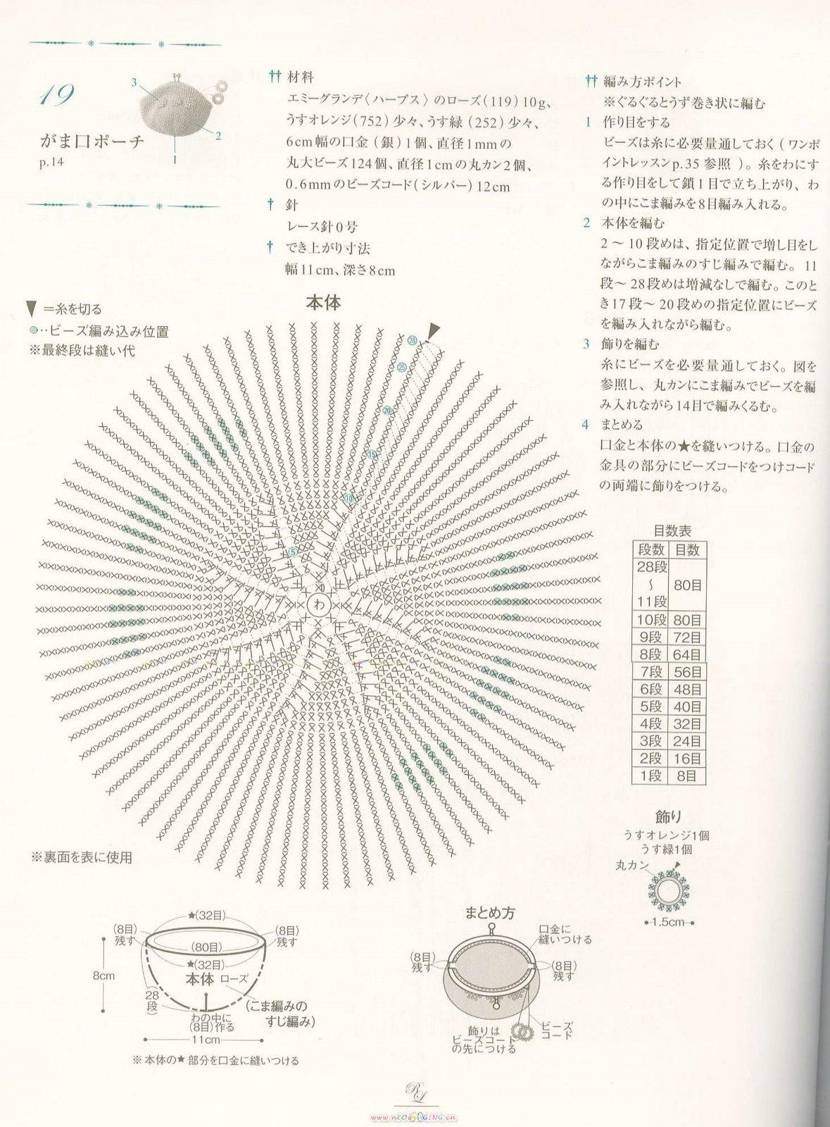 Вязание бисером кошелек схема 127