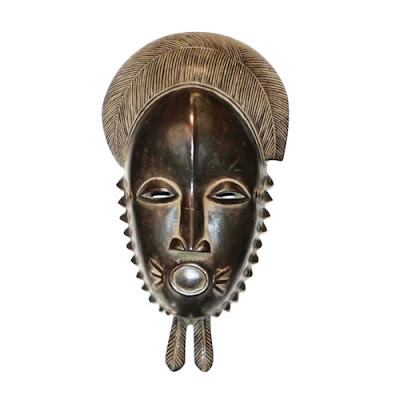 african masks art. Traditional Baule African mask