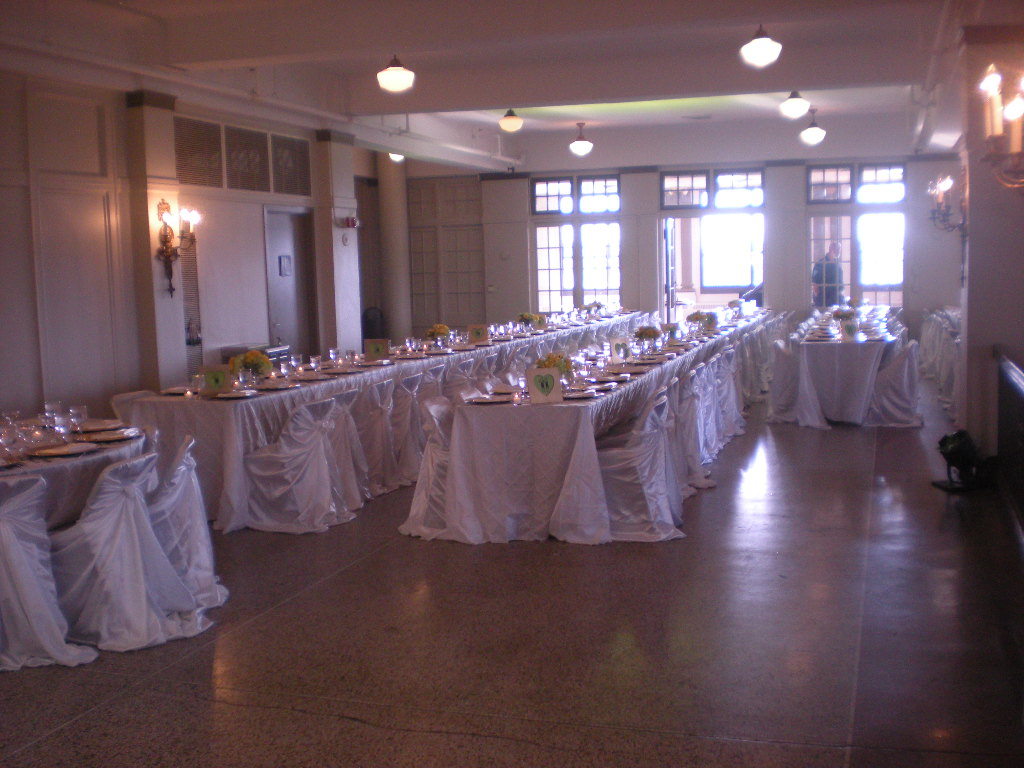 one half of the room after table set up