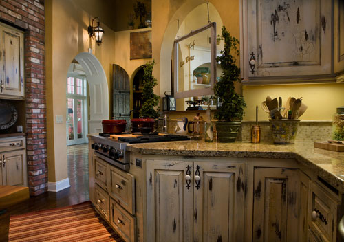Country French Kitchen Cabinets