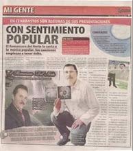PUBLICACION EN EL PERIODICO Q´HUBO DE CUCUTA