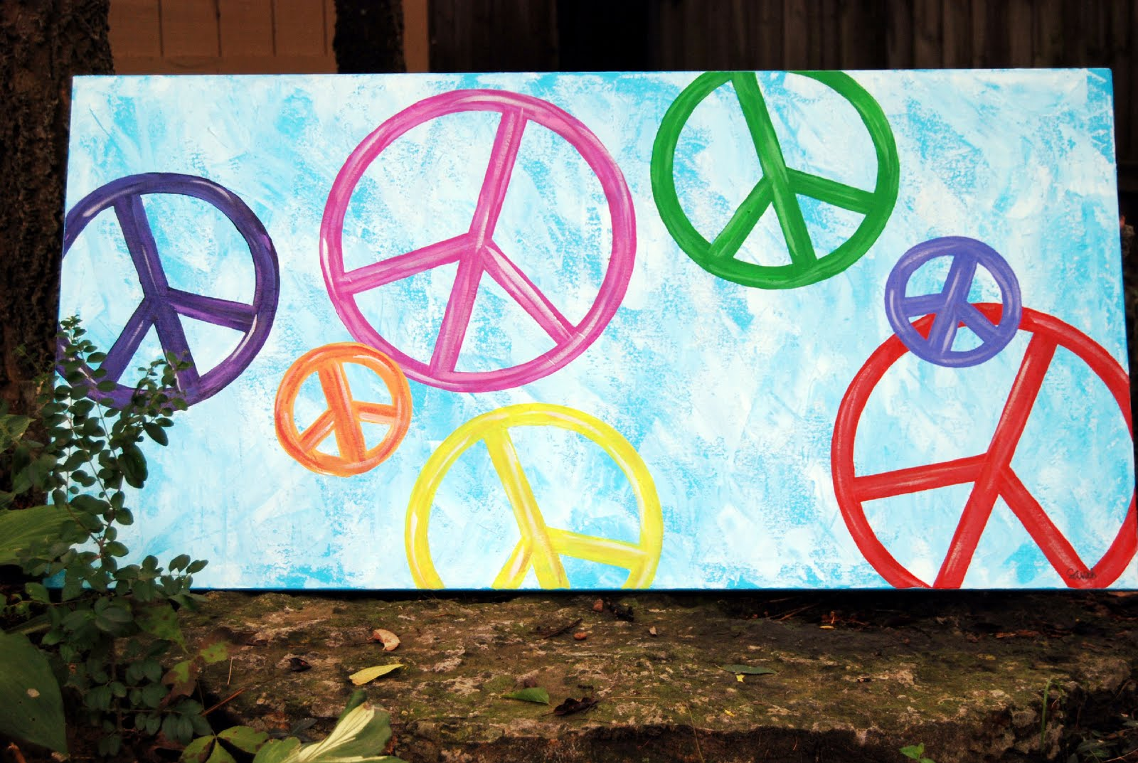Peace Sign Bedroom Peaceful Expressions Art