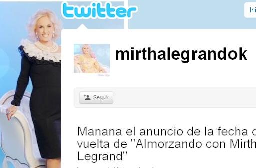 twitter Mirtha Legrand