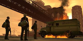 Grand Theft Auto IV, complete with criminal violence