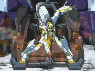 The Lancelot, Suzaku's powerful prototype Knightmare Frame.