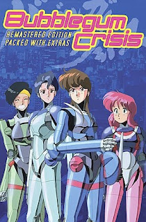 The Knight Sabers, left to right: Linna, Sylia, Priss, and Nene