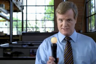 Fictional Sony executive Kevin Butler in an ad for the PlayStation Move