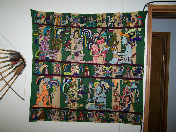 Maya Tapestry from Lake Atitlan, Guatemala