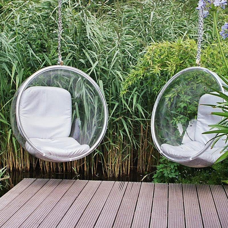 Simplynattie hanging bubble chair by eero aarnio - Fauteuil bubble chair ...